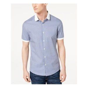 Michael Kors Men's Stretch Gingham Check Shirt
